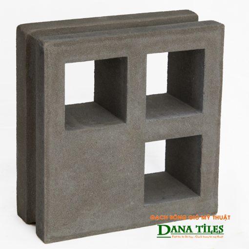 Gạch bông gió xi măng Dana tiles D-012 màu đen