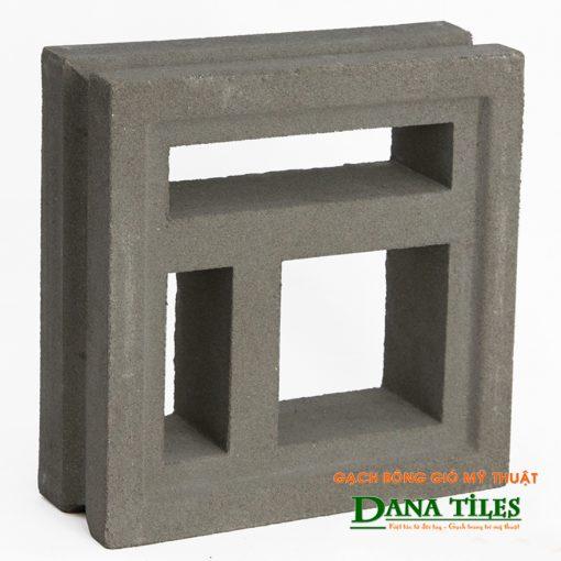 Gạch bông gió xi măng Dana tiles D-02 màu đen