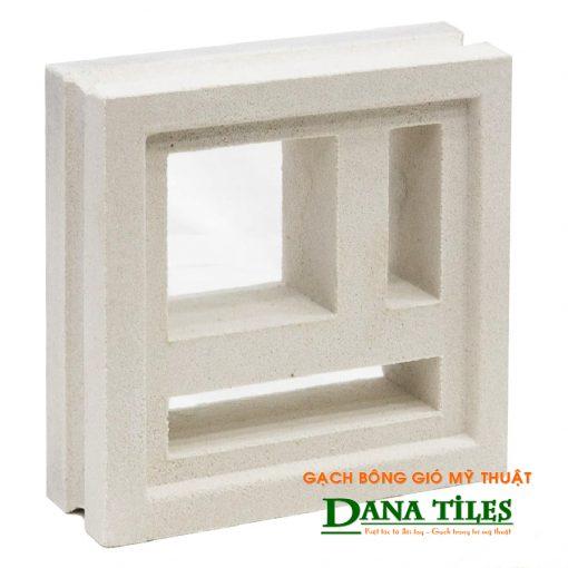 Gạch bông gió xi măng trắng Dana tiles D-02