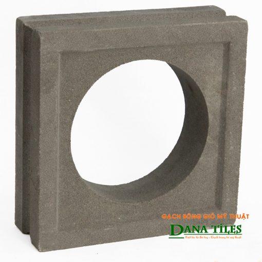 Gạch bông gió xi măng Dana tiles D-06 màu đen