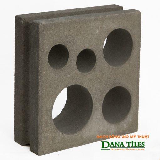 Gạch bông gió xi măng Dana tiles D-05 màu đen