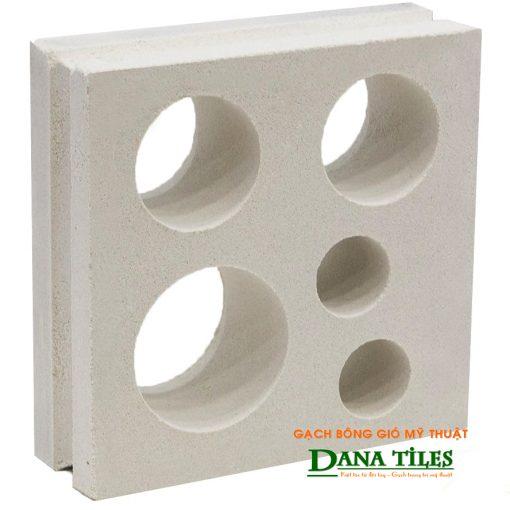 Gạch bông gió xi măng trắng Dana tiles D-05