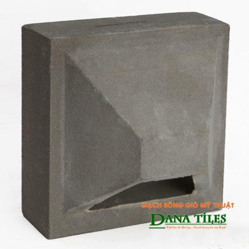 Gạch bông gió bánh ú xi măng Danatiles BU-01 màu đen
